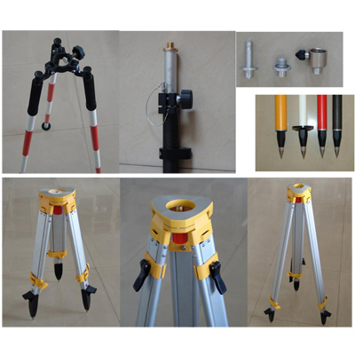 Prism Pole And Aluminum Tripods